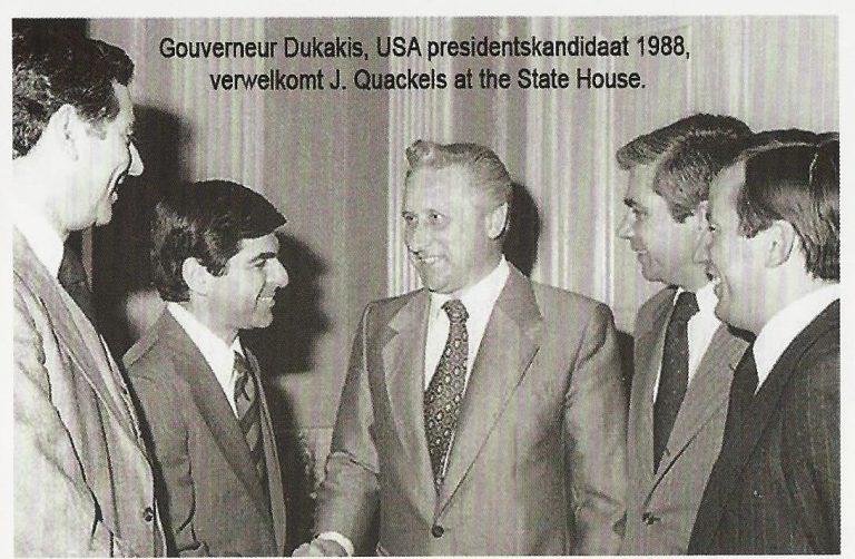 Gouverneur van Amerika wil een huis bouwen met J. Quackels.