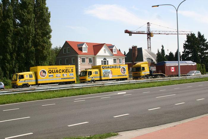 Quackels Woningbouw N.V. vrachtwagens